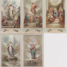 Postales: 5 ESTAMPAS DEL MISTERIO DE GLORIA - COMPLETA - EDITA EL ANCLA LT. Lote 143542638