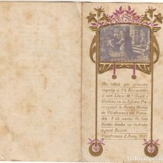 Postales: ER-339 VILLAFRANCA DEL PENEDÉS PRIMERA COMUNIÓN DEL PINTOR LLUIS Mª GUELL I CORTINA. Lote 143679066