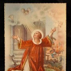 Postales: OLD SAINT LAWRENCE OF ROME RELIGIOUS POSTCARD HOLY CARD ESTAMPA SAN LORENZO CC79. Lote 143951006