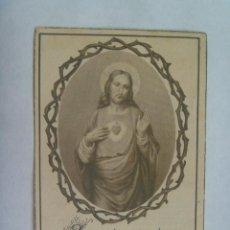 Postales: ESTAMPA SAGRADO CORAZON DE JESUS. RECUERDO EJERCICIOS ESPIRITUALES ( O.C.T.) . SEVILLA, 1955. Lote 144241862