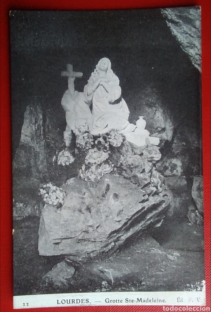 POSTAL FRANCIA LOURDES GRUTA DE SANTA MARIA MAGDALENA (Postales - Postales Temáticas - Religiosas y Recordatorios)