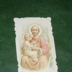 Postales: ESTAMPA SAN JOSE - FABRIC.FRANCESA EDIT.PONTIF - RECUERDO PRIMERA COMUNION 1925. Lote 144793198
