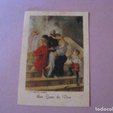 Postales: ESTAMPA RELIGIOSA. SAN JUAN DE DIOS. LIT P. VENTURA. GRANADA.. Lote 145436810