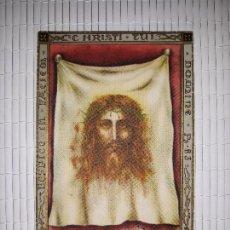 Postales: ESTAMPA SANTA FAZ RESPICE IN FACIEM CHRISTI TUI , MIRA EL ROSTRO DE CRISTO. Lote 145694266