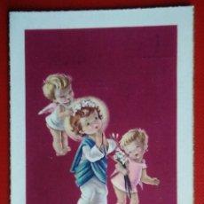 Postales: BONITA ESTAMPA RECUERDO RECORDATORIO COMUNION ILUSTRA CONSTANZA AÑO 1962. Lote 145702072