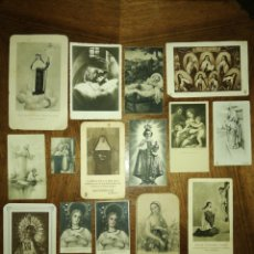Postales: LOTE DE ANTIGUAS ESTAMPAS RELIGIOSAS. Lote 87495740