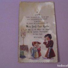 Cartes Postales: RECORDATORIO DE LA PRIMERA COMUNIÓN. ED. SUBI. MALAGA 1959.. Lote 146164986