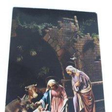 Postales: POSTAL CON IMAGEN DEL NACIMIENTO DEL NIÑO JESÚS. JOSÉ, MARÍA Y EL NIÑO JESÚS. SIN CIRCULAR . Lote 146463502