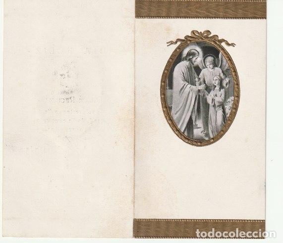 Postales: ESTAMPA DIPTICO RECUERDO PRIMERA COMUNION IGLESIA PARROQUIAL DE SAN JAIME ALGEMESI 1939 --C-9 - Foto 2 - 146603698