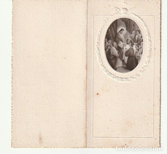 Postales: ESTAMPA RECUERDO PRIMERA COMUNION IGLESIA PARROQUIAL SAN JAIME ALGEMESI 1939 AÑO DE LA VICTORIA-C-9 - Foto 2 - 146603946