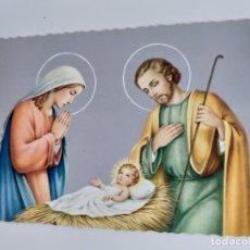 Postales: POSTAL ANTIGUA. NACIMIENTO DEL NIÑO JESÚS. SIN CIRCULAR. . Lote 146706786