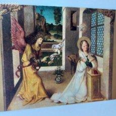 Postales: POSTAL DE LA ANUNCIACION. MUSEO BELLAS ARTES DE DIJON, FRANCIA. CIRCULADA 1965. SELLO Y MATASELLOS.. Lote 146966686