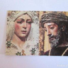 Postales: PEQUEÑA ESTAMPA VIRGEN DE LA ESPERANZA MACARENA - NTRO PADRE JESUS DE LA SENTENCIA -SEVILLA. Lote 147002570