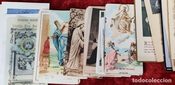 Postales: COLECCION DE 88 ESTAMPAS RELIGIOSAS. PAPEL IMPRESO. SIGLO XX. - Foto 2 - 147010738