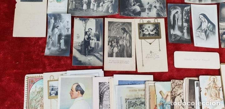 Postales: COLECCION DE 88 ESTAMPAS RELIGIOSAS. PAPEL IMPRESO. SIGLO XX. - Foto 3 - 147010738
