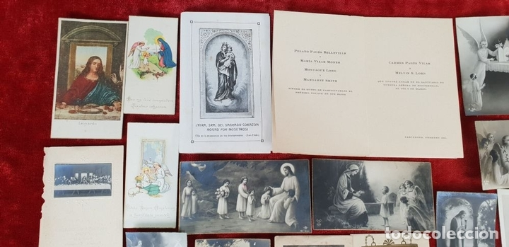Postales: COLECCION DE 88 ESTAMPAS RELIGIOSAS. PAPEL IMPRESO. SIGLO XX. - Foto 4 - 147010738