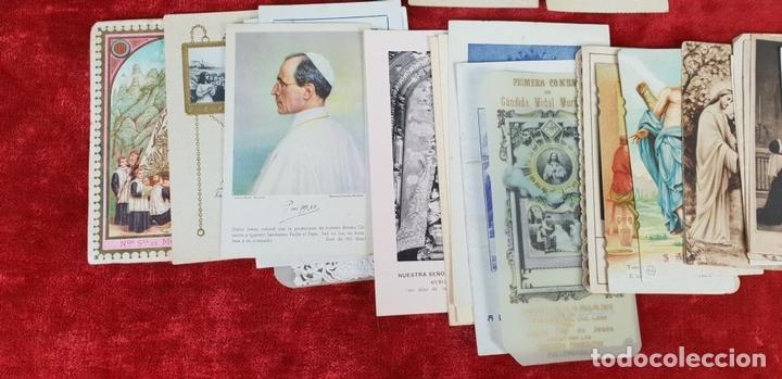 Postales: COLECCION DE 88 ESTAMPAS RELIGIOSAS. PAPEL IMPRESO. SIGLO XX. - Foto 6 - 147010738