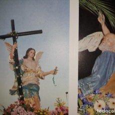 Postales: CALENDARIO ACORDEÓN 6 POSTALES SEMANA SANTA CIEZA PUBLICIDAD COFRADÍA DORMIS 1997 ÁNGEL BURRICA. Lote 147571578