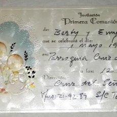 Postales: RECORDATORIO DE PRIMERA COMUNIÓN ORTIZ - 1990. Lote 147572886