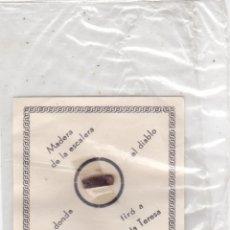 Postales: MADERA DE LA ESCALERA POR DONDE EL DIABLO TIRÓ A SANTA TERESA. Lote 147686098
