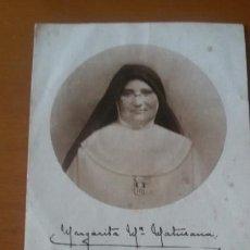 Postales: ESTAMPA RELIGIOSA. MADRE MARGARITA MARÍA MATURANA.. Lote 148311734