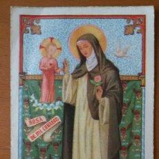 Postales: ESTAMPA RELIGIOSA. SANTA ROSA DE LIMA.. Lote 148443518