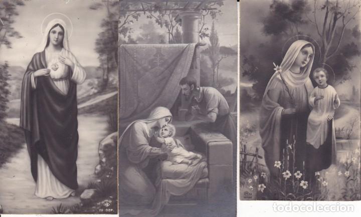 3 ESTAMPAS AÑOS 50 (Postales - Postales Temáticas - Religiosas y Recordatorios)