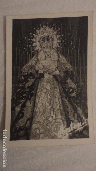 RECUERDO SOLEMNE SEPTENARIO.VIRGEN DEL LA ESTRELLA.SEVILLA 1958.FOTO ANTONIO. (Postales - Postales Temáticas - Religiosas y Recordatorios)