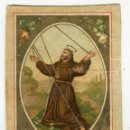 Postales: S. FRANCESCO D'ASSISI / SAN FRANCISCO DE ASIS ESTAMPA FINALES DEL SIGLO XIX MED. 11 X 7 CMS. APROX.. Lote 148704150