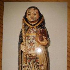 Postales: SAN TELMO O CORPO SANTO S. XIV POSTAL ESCULTURA DE CALCÁRIO POLICROMADO MUSEU ETNOGRAFIA E HISTORIA. Lote 148968554