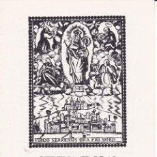 Postales: OFRENA FLORAL VILA DE MONTBLANC MARE DE DEU DE LA SERRA TARRAGONA 1988. Lote 149680162