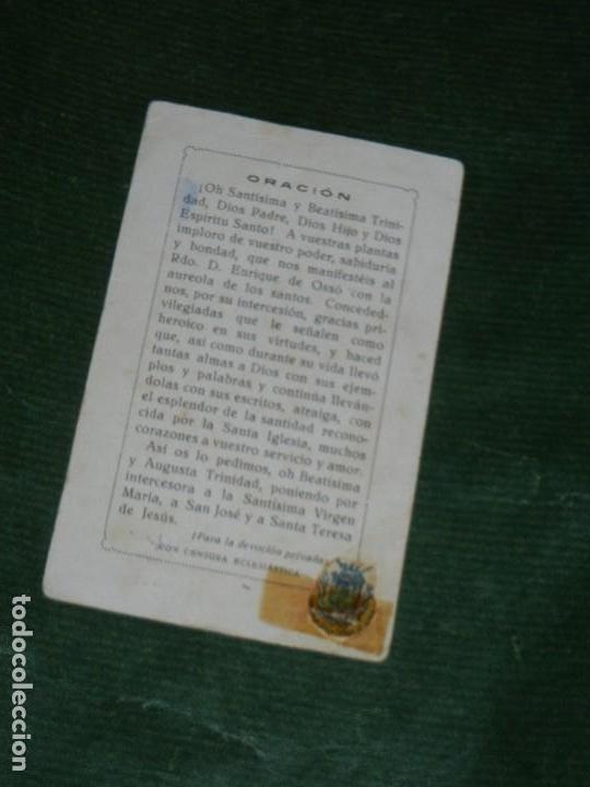 Postales: ESTAMPA BEATO ENRIQUE DE OSSO Y CERVELLO, CON RELIQUIA - Foto 2 - 149750818