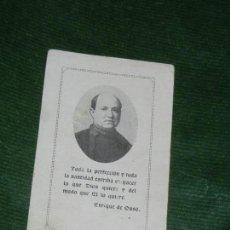 Postales: ESTAMPA BEATO ENRIQUE DE OSSO Y CERVELLO, CON RELIQUIA. Lote 149750818