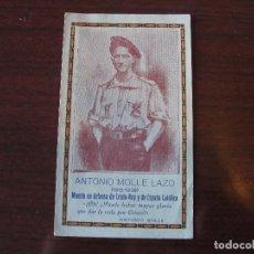 Postales: ESTAMPA ANTONIO MOLLE LAZO REQUETE ASESINADO - CARLISMO - EXCELENTE ESTADO. Lote 149869366