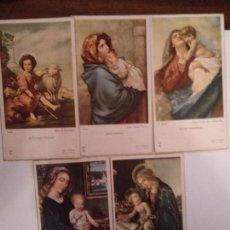 Postales: LOTE DE 5 RECORDATORIOS RELIGIOSOS DE PRIMERA COMUNIÓN. Lote 150059282