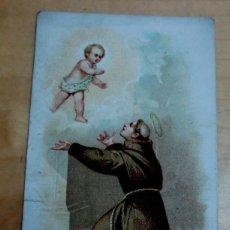 Cartes Postales: ESTAMPA RELIGIOSA S. ANTONIO DE PADUA 13X7 CM.. Lote 150348026