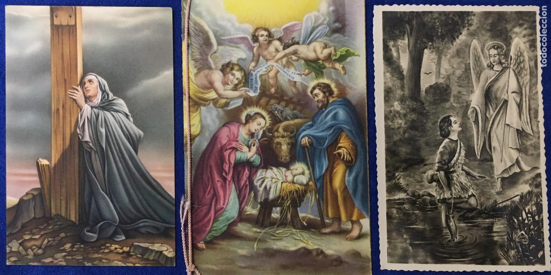 LOTE ANTIGUO DE TARJETAS POSTALES, RECORDATORIOS Y OTROS RELIGIOSOS . 35 UNIDADES. VER FOTOS (Postales - Postales Temáticas - Religiosas y Recordatorios)
