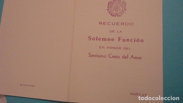 Postales: RECUERDO SOLEMNE FUNCION.CRISTO DEL AMOR.HUELVA - Foto 2 - 151396754