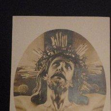 Postales: ANTIGUA POSTAL FOTOGRAFICA.CRISTO DE LA AGONIA LIMPIAS.FOTO LEONCIO AMPUERO. Lote 151854850
