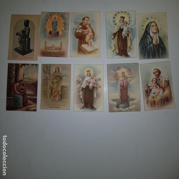 LOTE DE 10 IMAGENES RELIGIOSAS (Postales - Postales Temáticas - Religiosas y Recordatorios)