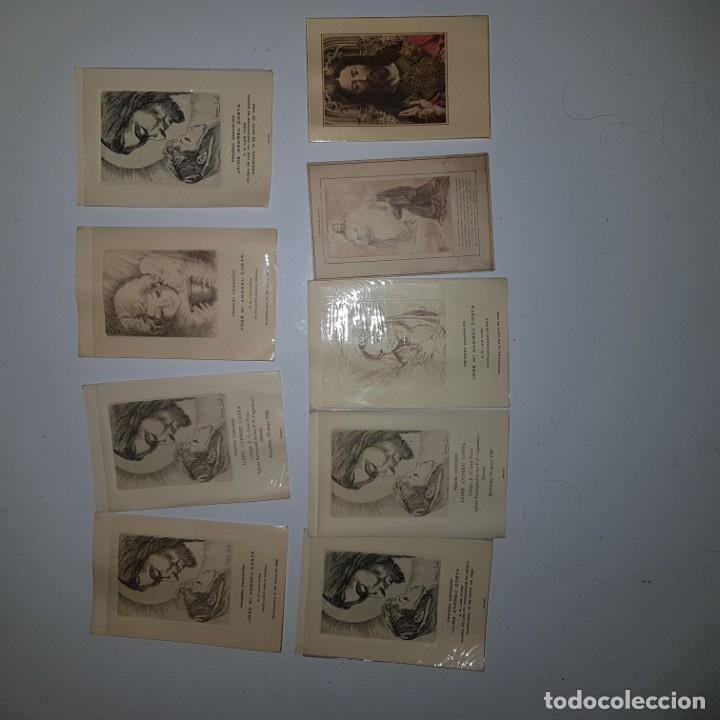 9 ESTAMPAS PRIMERA COMUNION (Postales - Postales Temáticas - Religiosas y Recordatorios)