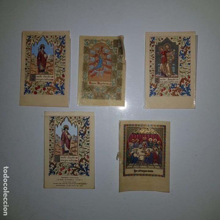 5 ESTAMPAS PRIMERA COMUNION (Postales - Postales Temáticas - Religiosas y Recordatorios)