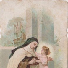 Postales: 7 ANTIGUAS ESTAMPAS RELIGIOSAS DE SANTA TERESA DE JESUS - DORSO EN BLANCO. Lote 152496254