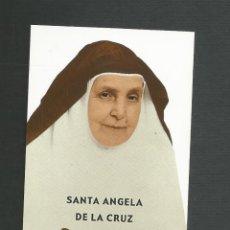 Postales: RECORDATORIO RELIGIOSO - SANTA ANGELA DE LA CRUZ. Lote 152561350