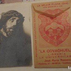 Postales: ANTIGUA FOTO POSTAL.CRISTO DE LA CAIDA.LA COVACHUELA.JOSE MARIA ROMERO.MURCIA. Lote 152567138