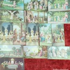 Postales: COLECCION DE 15 ESTAMPAS RELIGIOSAS. EDIT. NB. ITALIA. SIGLO XX. . Lote 152725850