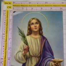 Postales: POSTAL RELIGIOSA SEMANA SANTA. AÑO 1970. SANTA LUCÍA. 2279. Lote 153146362