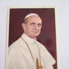 Postales: ESTAMPA PABLO VI - ESCRITA AL DORSO. Lote 153527910