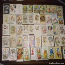 Postales: LOTE DE 50 RECORDATORIOS RELIGIOSOS. Lote 153881450