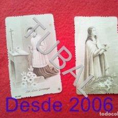 Postales: TUBAL SANTA LUCIA Y SAN LUIS GONZAGA ESTAMPAS RECORDATORIOS. Lote 154690002